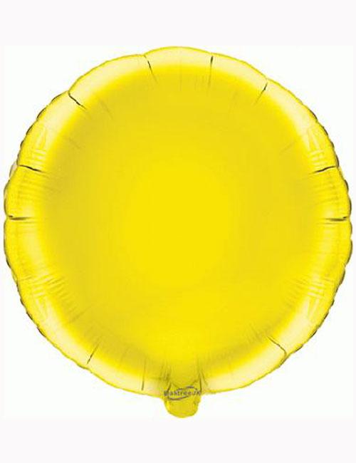 18'-Yellow-Round-Foil-Balloon