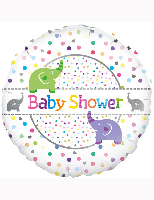 "18"" Baby Shower Elephants Balloon"