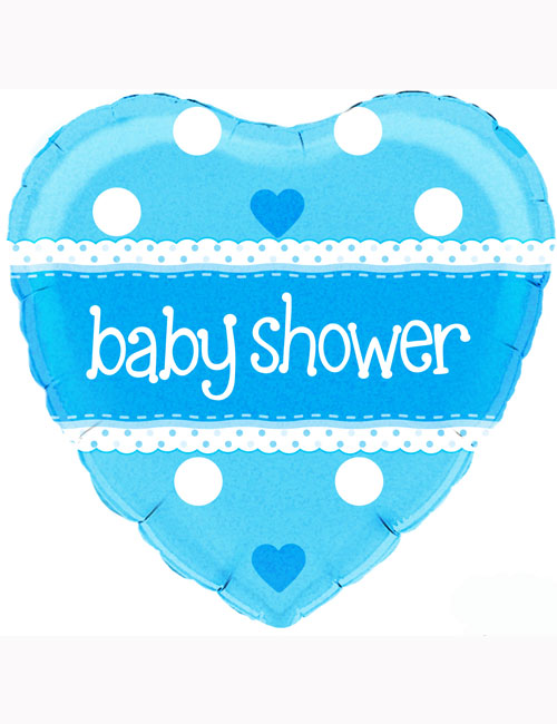 """18"""" Baby Shower Blue Holographic Balloon"""