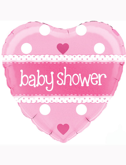 """18"""" Baby Shower Pink Holographic balloon"""