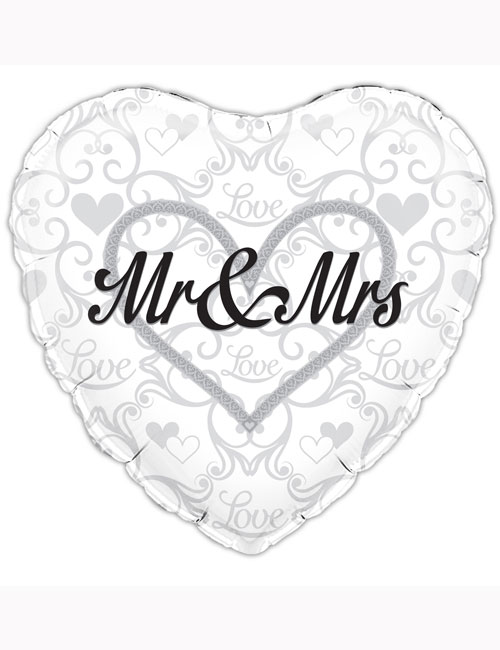 "18"" Mr and Mrs Balloon"