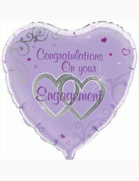 "18"" Congratulations On Your Engagement Balloon"
