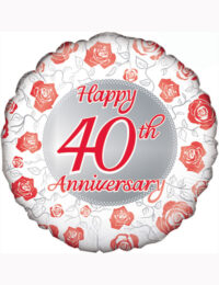"18"" Happy 40th Anniversary Balloon"