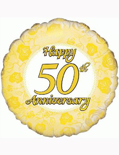 "18"" Happy 50th Anniversary Balloon"