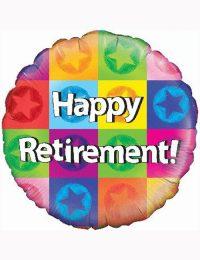 """18"""" Happy Retirement Balloon."""