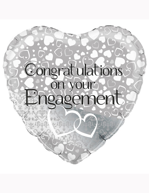 "18"" Entwined Hearts Engagement Balloon"