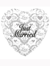 "18"" Just Married Filigree Balloon"
