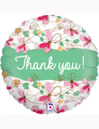 """18"""" Floral Thank You Holographic Balloon"""