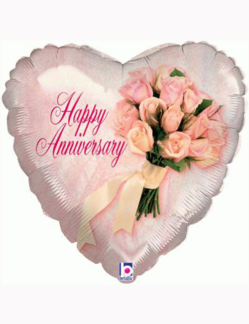 """18"""" Anniversary Bouquet Holographic Balloon"""