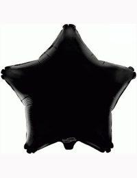 "18"" Black Star Foil Balloon"