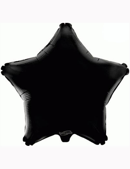"18"" Black Star Foil Balloon"