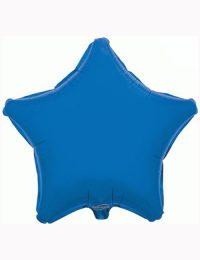 """18"""" Blue Star Foil Balloon"""