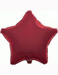 "18"" Burgundy Star Foil Balloon"