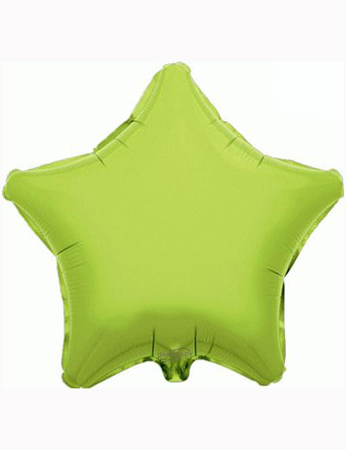 "18"" Lime Green Star Foil Balloon"