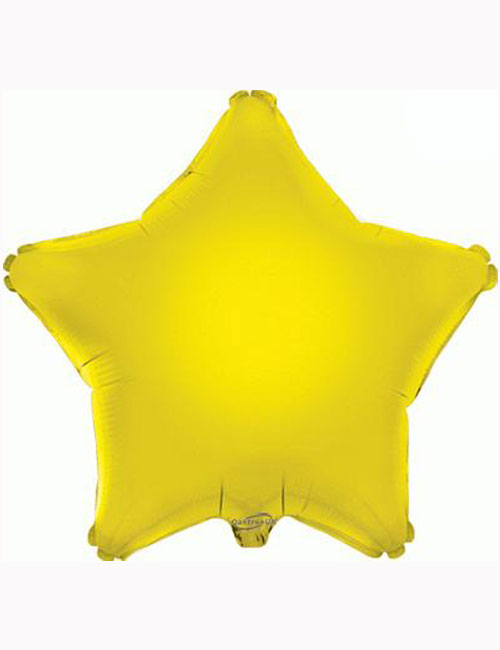 "18"" Yellow Star Foil Balloon"