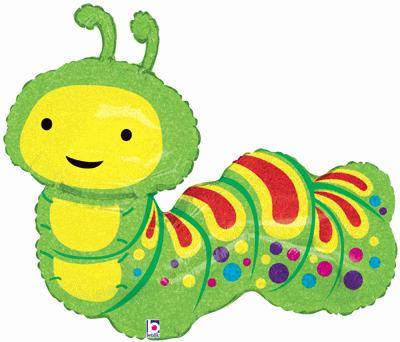 Caterpillar shape balloon