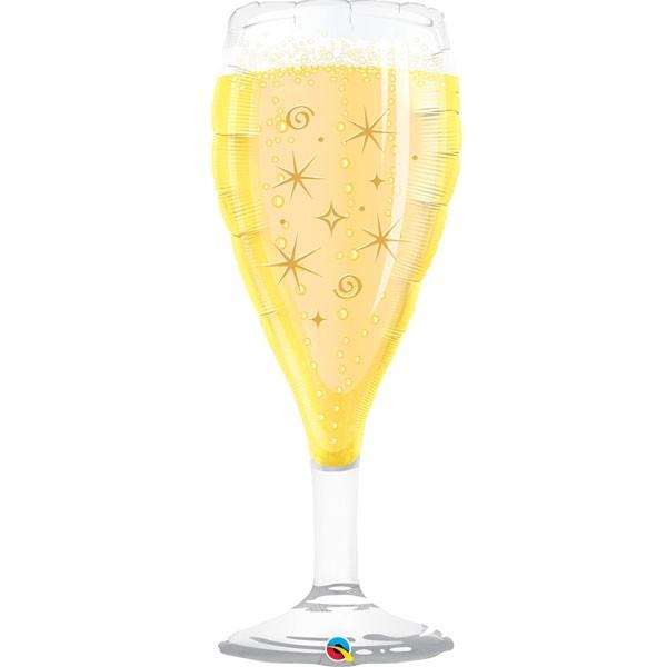 bubbly wine glass shape balloon