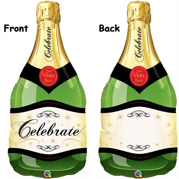 celebrate bubbly wine bottle shape