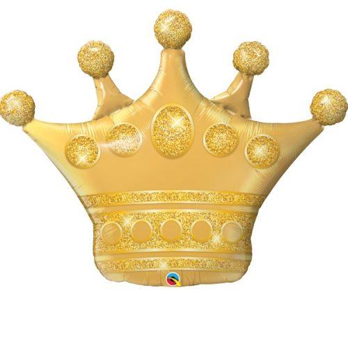 golden crown shape balloon