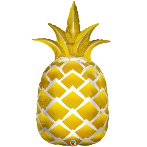 golden pineapple shape balloon