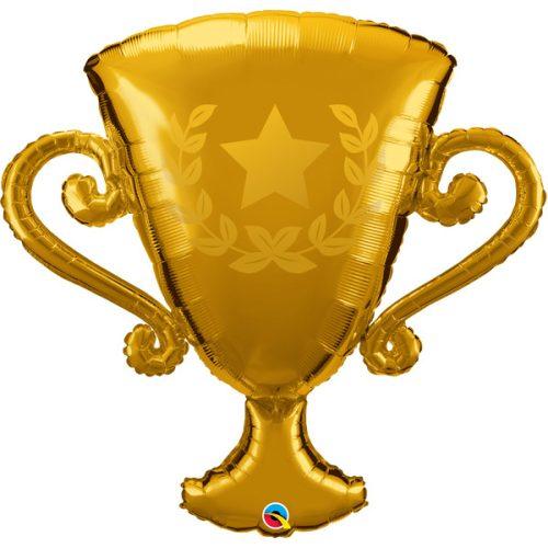 golden trophy shape balloon