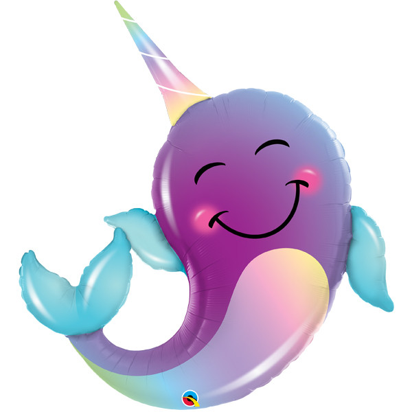 party narwhal shape balloon