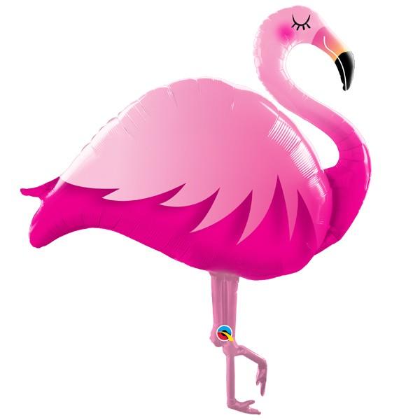 pink flamingo shape balloon