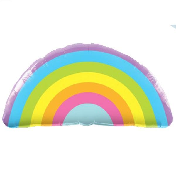 radiant rainbow shape balloon