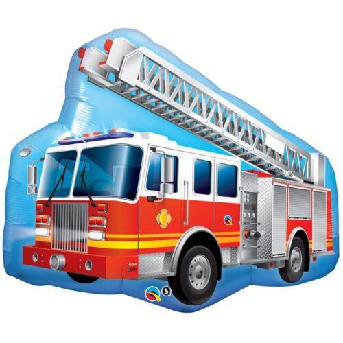 red fire truck shape balloon