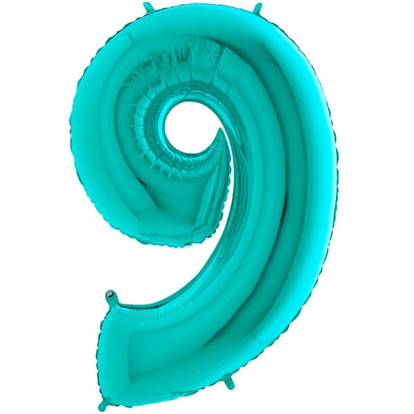 """40"""" Tiffany Number 9 Foil Balloon"""
