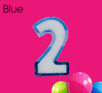 Blue Number Candles