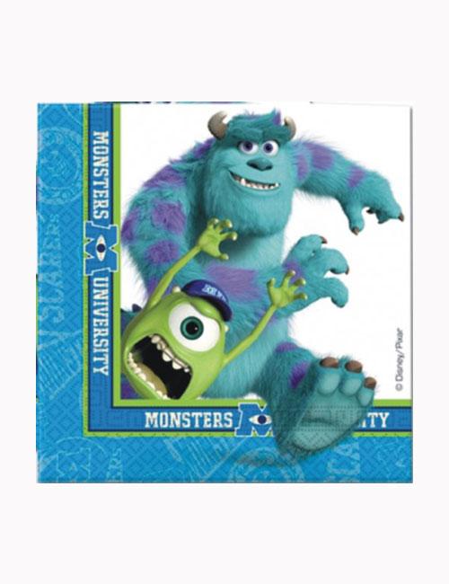 Monsters Inc University Napkins