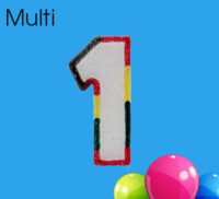 Multi Coloured Number Candles