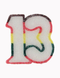 Multi Number 13 Candle
