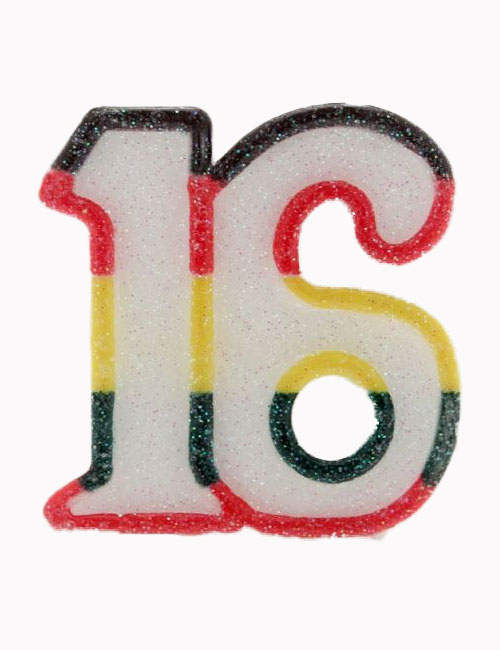 Multi Number 16 Candle