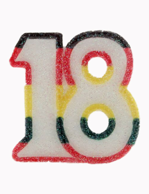 Multi Number 18 Candle