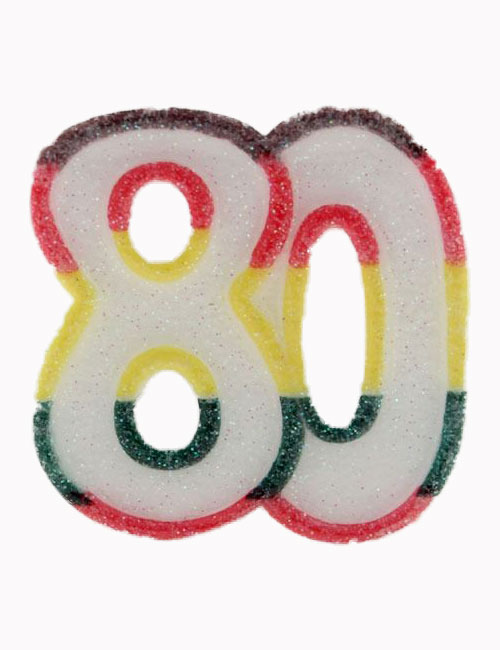 Multi Number 80 Candle