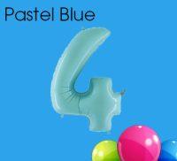 Pastel Blue Numbers