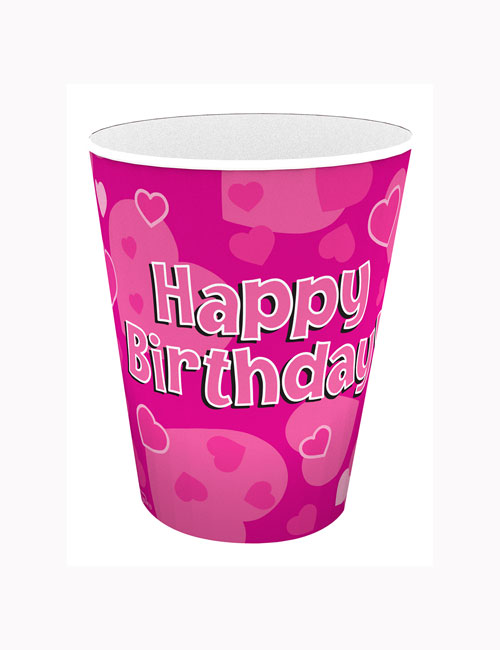Pink Birthday Cups