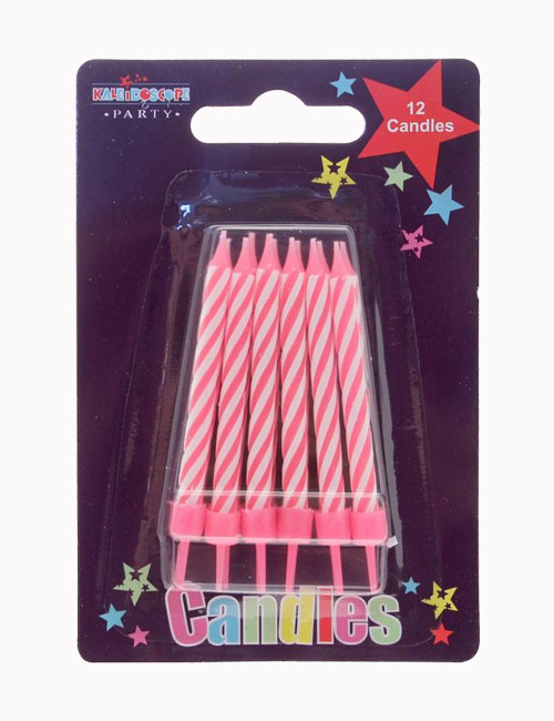 Pink Cake Candles