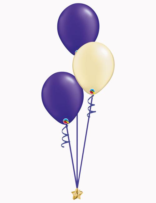 Purple Ivory Purple Latex Balloons