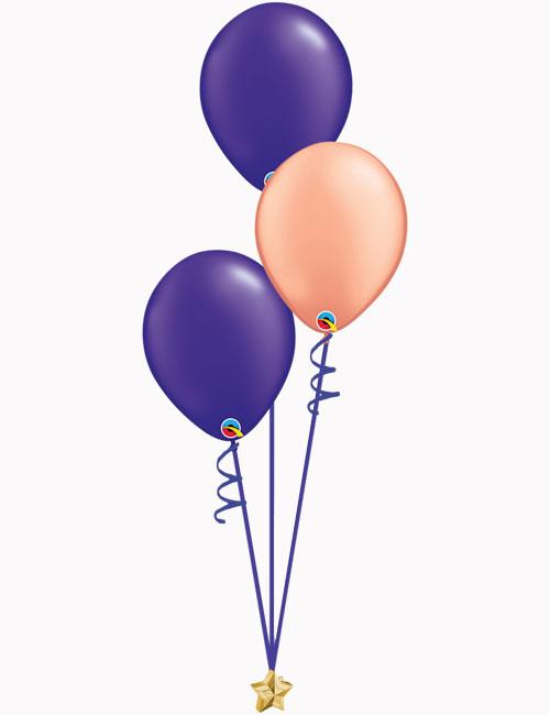 Purple Rose Gold Purple Latex Balloons