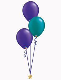 Purple Teal Purple Latex Balloons