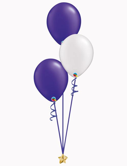 Purple White Purple Latex Balloons