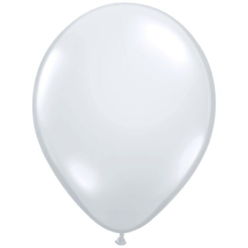 "11"" Diamond clear latex balloons"