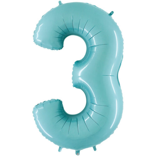 pastel-blue-number-3-foil balloon