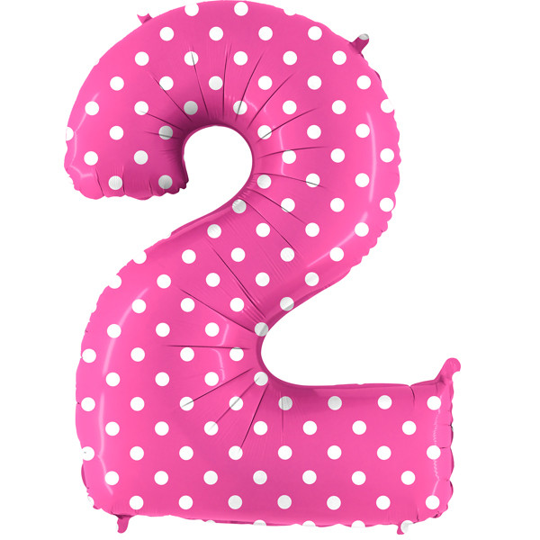 "40"" Pois Pink Number 2 Foil Balloon"