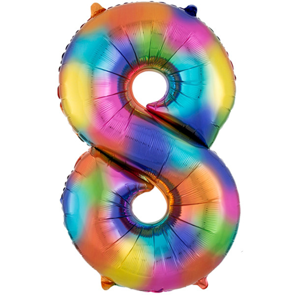rainbow-splash-number-8-Foil Balloon