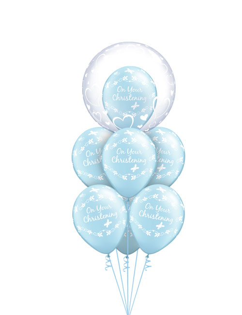 Christening Blue Balloon Bouquet