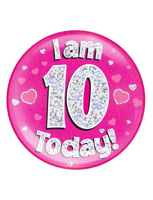 I-am-10-Badge-Pink
